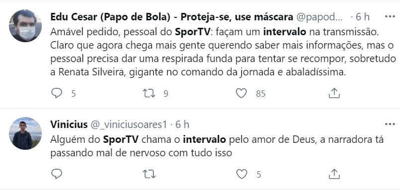Tweet SporTV sem intervalos mal súbito Eriksen